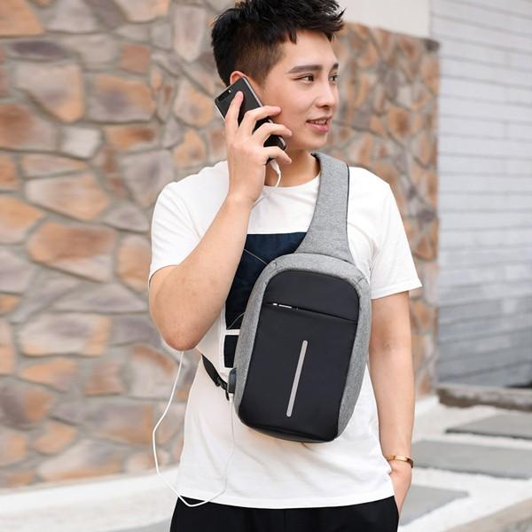 Túi Đeo Chéo nam, túi chéo nam đựng ipad mini túi du lịch vải gió bền đẹp thời trang nam nữ phong cách Hàn quốc TC10Z