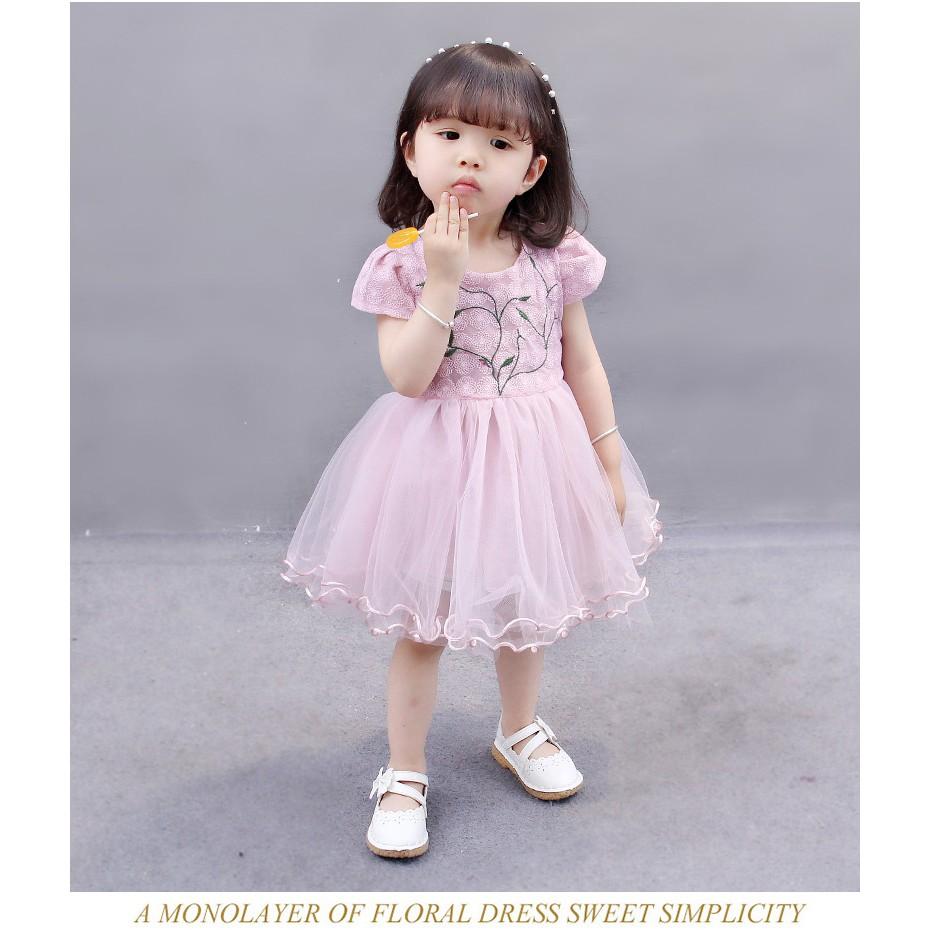 Đầm bé gái 9-10kg D235