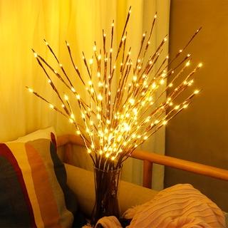 20LED Liễu Chi Nhánh Hoa Đèn Chạy Bằng Pin/Cây Branchs Bóng Cổ Tích Cành Đèn Nhà Sinh Nhật Ngày Lễ Đảng Bình Hoa Vườn