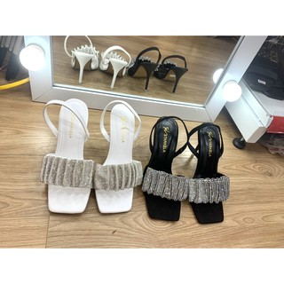 Sandal nữ, giày dép nữ quai kim tuyến gót mảnh siêu xinh