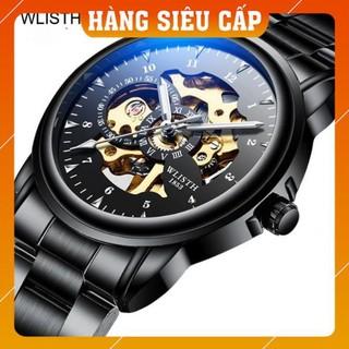 [CAO CẤP] Đồng hồ nam WLISTH 1007 lộ máy cơ automatic