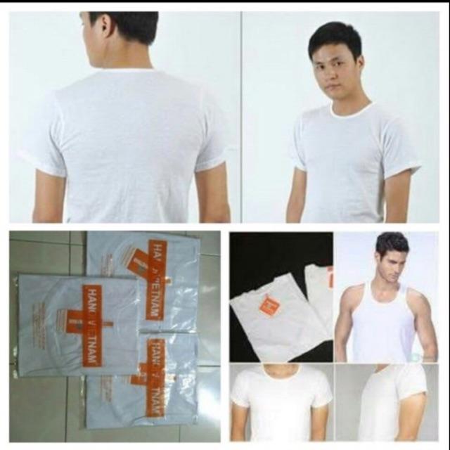 FREESHIP từ 199k, Combo áo đông xuân mác cam (màu trắng) có cả cộc và ba lỗ