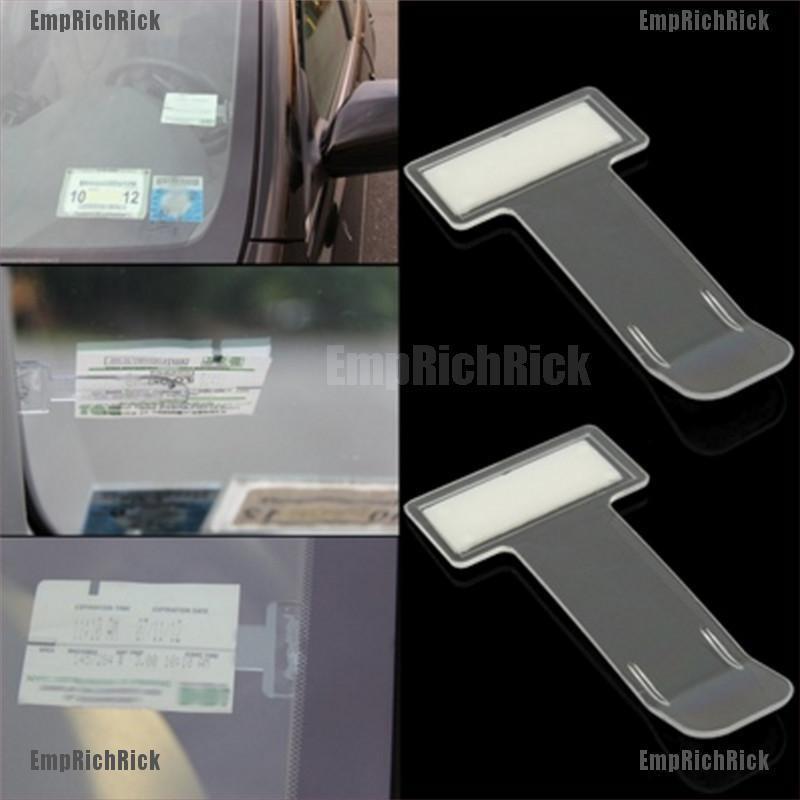 Kẹp gắn kính chắn gió đựng thẻ đậu xe hơi tiện dụng