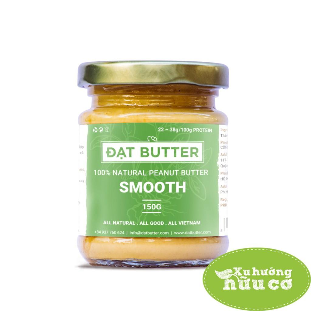 Bơ đậu phộng nguyên chất xay mịn 150g - 100% Natural Peanut Butter Smooth 150g