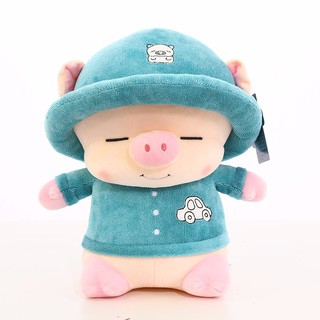Gấu Bông Lợn Bông Heo Con 2019 Đội Mũ Cute Size 35cm