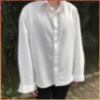 1hitshop Áo sơ mi cổ vest tay dài nam nữ, áo sơ mi cổ vest unisex 2 màu trắng đen