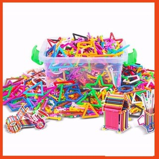 [SALE SẬP SÀN] đồ chơi cho bé – combo 4 Bộ đồ chơi lắp ghép xếp que thông minh – SIÊU CHẤT LƯỢNG