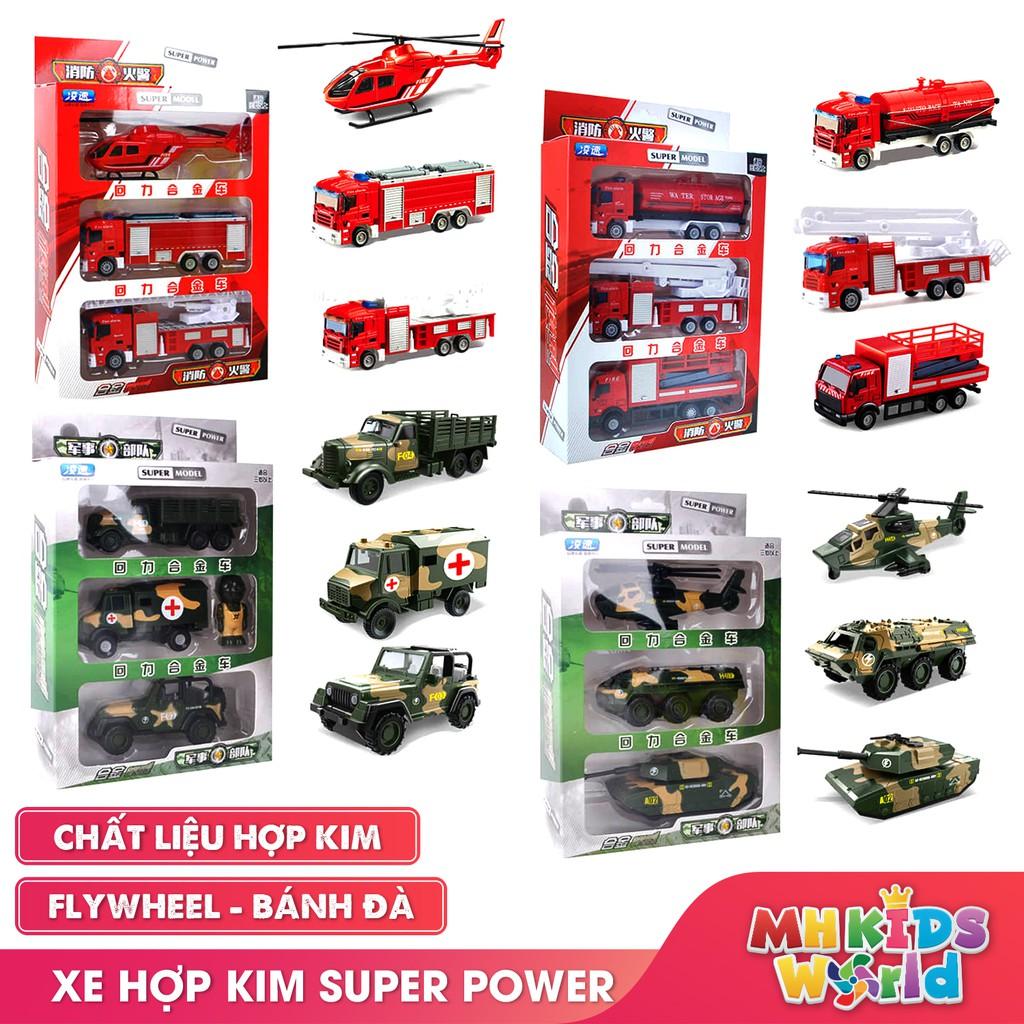Bộ xe cứu hỏa, máy bay cứu hộ, xe thang cứu hộ đồ chơi mô hình tỷ lệ 1:52 đồ chơi trẻ em lứa tuổi 3+hợp kim an toàn