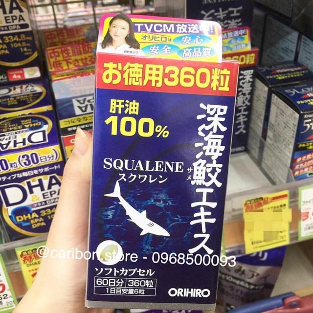 Viên uống sụn vi cá mập Orihiro Squalene 360 viên - 2514212 , 1254675190 , 322_1254675190 , 650000 , Vien-uong-sun-vi-ca-map-Orihiro-Squalene-360-vien-322_1254675190 , shopee.vn , Viên uống sụn vi cá mập Orihiro Squalene 360 viên