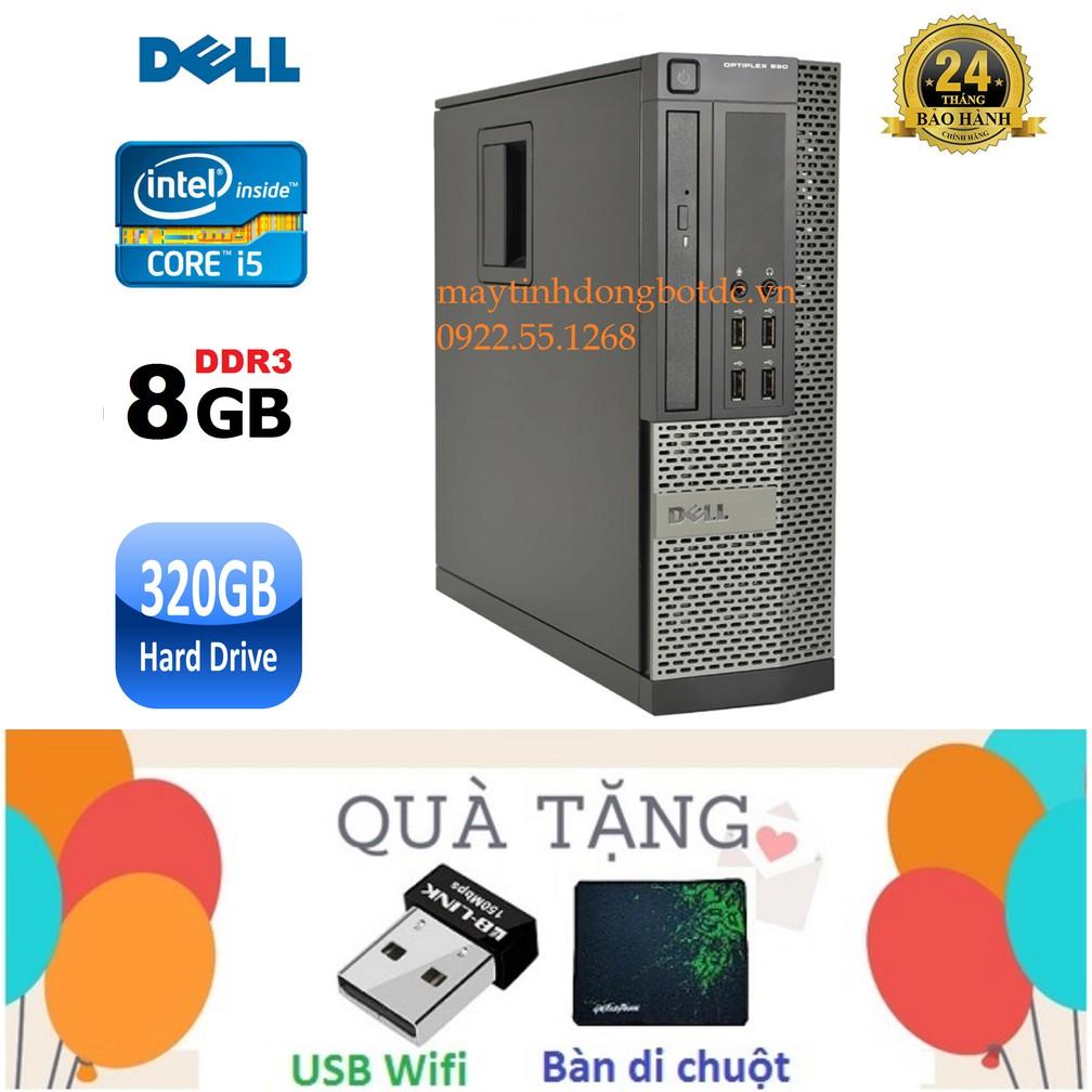 Máy Tính Để Bàn Dell Optiplex 990 Chip I5 2400, Ram 8Gb, HDD 320Gb,  DVD Tặng Usb Wifi, Bàn Di Chuột  Bảo Hành 24 Tháng