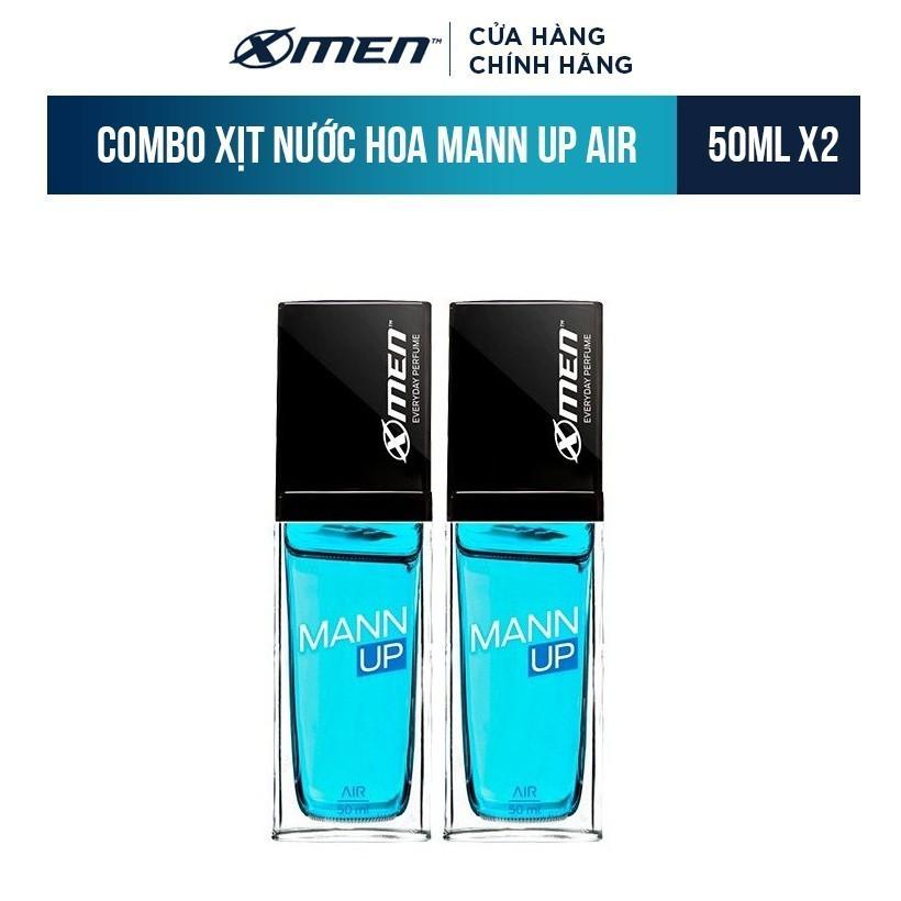 Combo 2 Xịt nước hoa hằng ngày X-Men Everyday Perfume Mann Up Air 50ml/chai