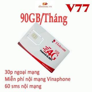 Sim itelecom may77, 3GB mỗi ngày, sim indochina v77 miễn phí gọi