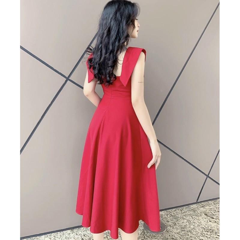 Mặc gì đẹp: Sang chảnh với Đầm dự tiệc dạo phố cực xinh chất vải mềm mịn thiết kế may 2 lớp có mút ngực mã [KYMY]