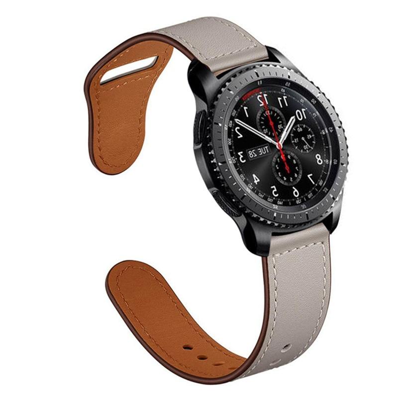 AMAZFIT Dây Đeo Bằng Da Thật Cho Đồng Hồ Samsung Galaxy S3 Frontier 46mm Huawei Watch Gt Gtr 47mm 22mm