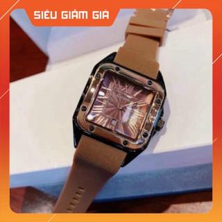 {HOT HOT} Đồng hồ guou nữ mặt vuông dây silicon, bảo hành 12 tháng, tặng box