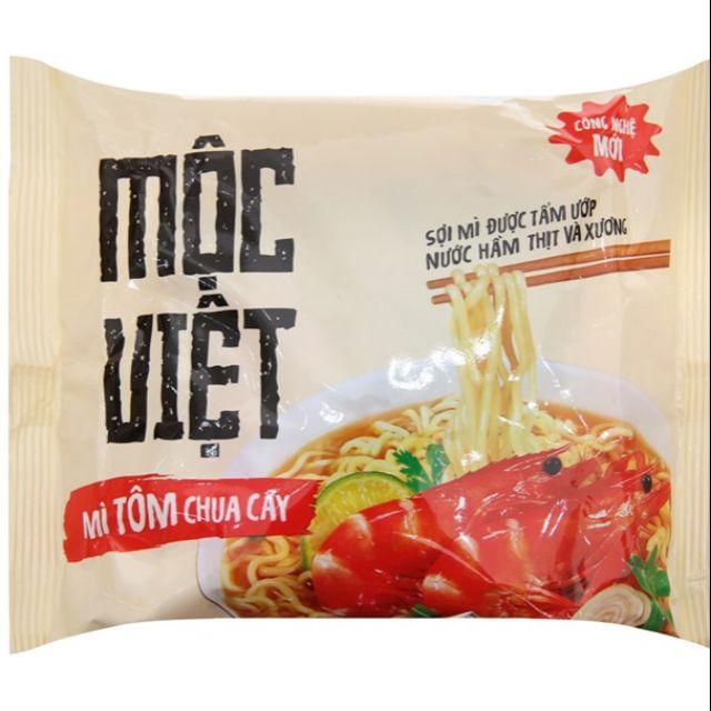 Combo 10 gói Mì Mộc Việt tôm chua cay gói 75g