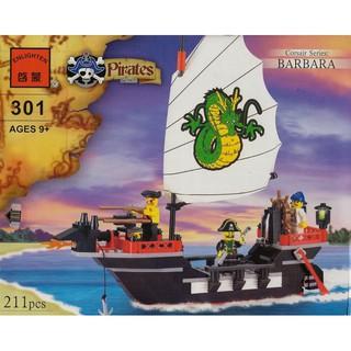 Đồ chơi lắp ráp lego enlighten pirates 301 xếp hình tàu cướp biển.