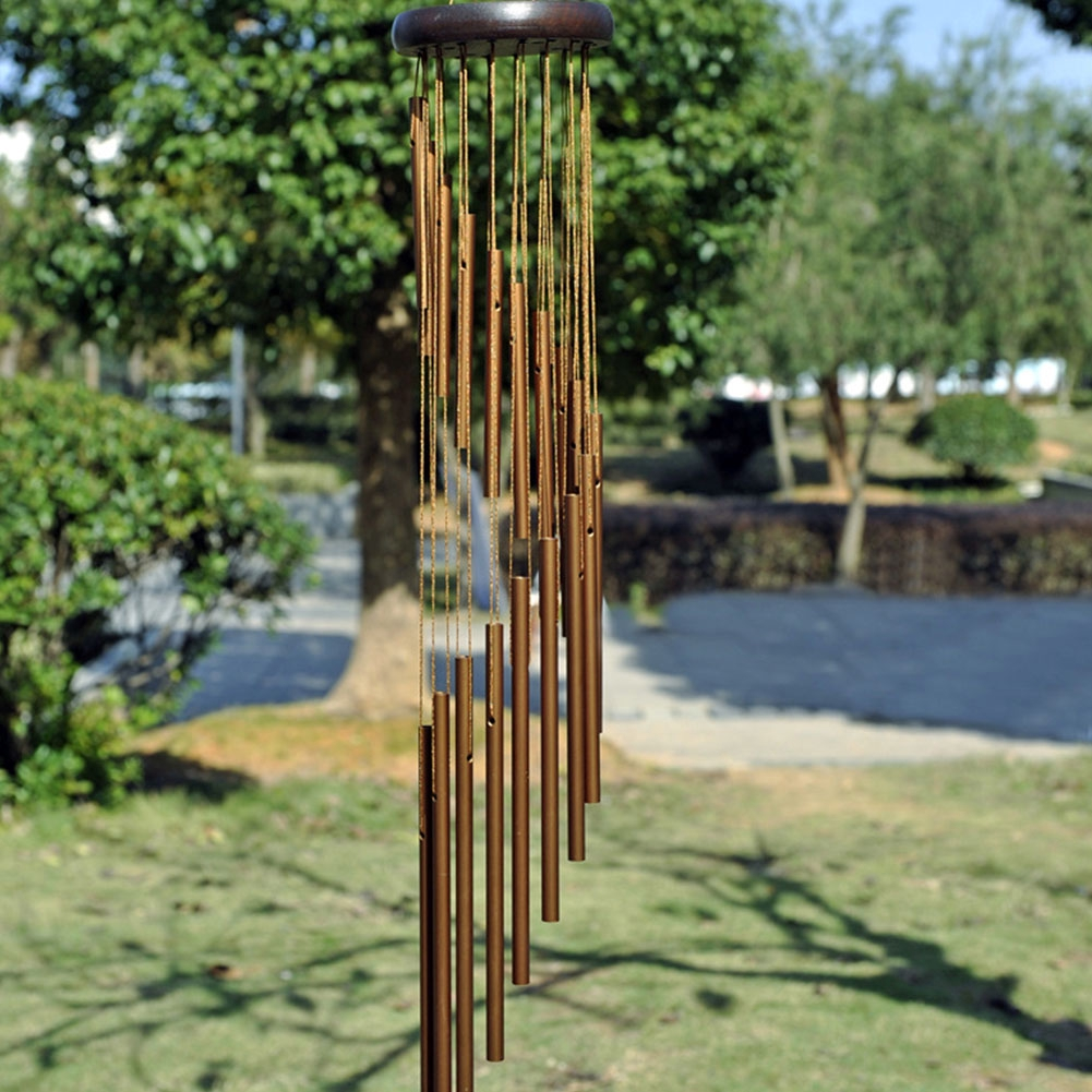 Copper Tubes Antique 18 Tube Outdoor Resonant Style Ornament Inspirational Window Chimes Garden Hanging Gifts Home Decor