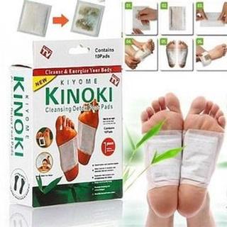 Combo 10 Miếng Dán Chân Giải Độc Kinoki Full box có hộp đầy đủ