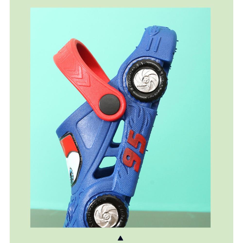 Dép sục cho bé trai 3D xe hơi xe ô tô McQueen yêu thích siêu nhẹ chống trơn trượt độ bám cực tốt chất liệu mềm mịn