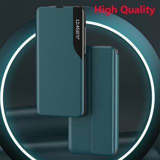 Samsung Galaxy Note 20 Note20 Ultra Matte Leather Flip Phone Case Magnetic Intelligent Window Smart View Wake Sleep Up Bracket Cases Shockproof Casing Back Cover For Samsung A10 A10S A20 A30 A20S A40 A21S Protection Shell