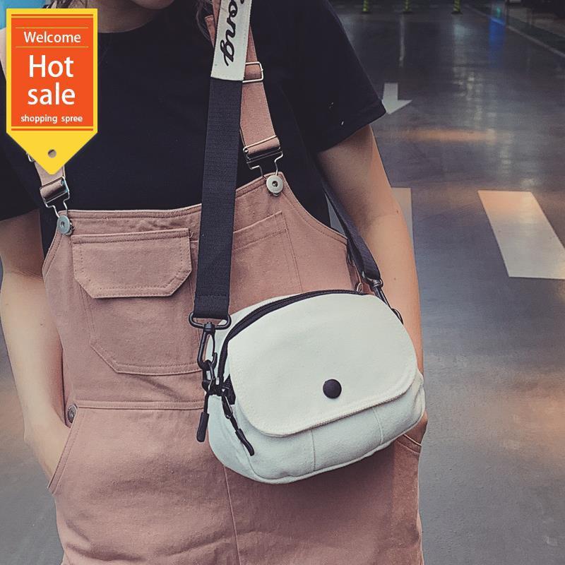 Túi đeo chéo vải bố thiết kế giản dị dễ thương