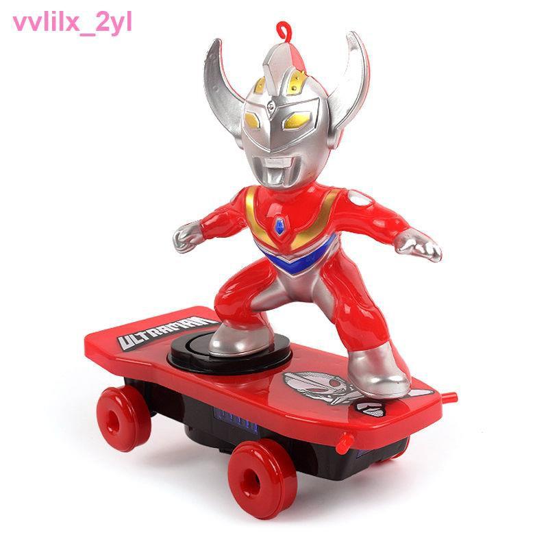 đồ chơiXe trượt điện Ultraman quay và cuộn trẻ em quá khổ rung điều khiển từ xa, mẫu giống nhau cho bé trai gái