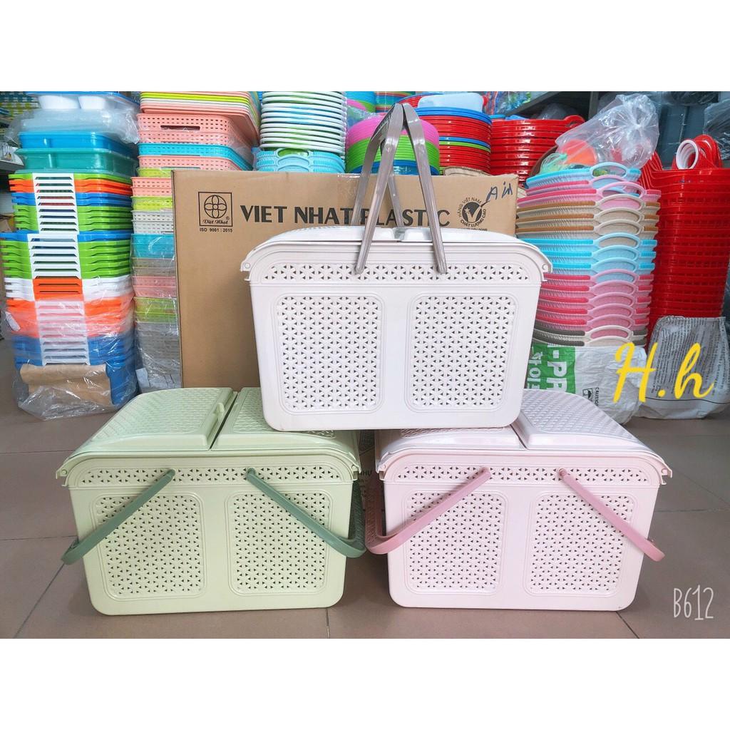 HÀNG CAO CẤP Làn nhựa đựng đồ đi sinh cho mẹ và bé, Giỏ đựng đồ sơ sinh MÃ  2604 NHỰA VIỆT NHẬT, Giá tháng 1/2021