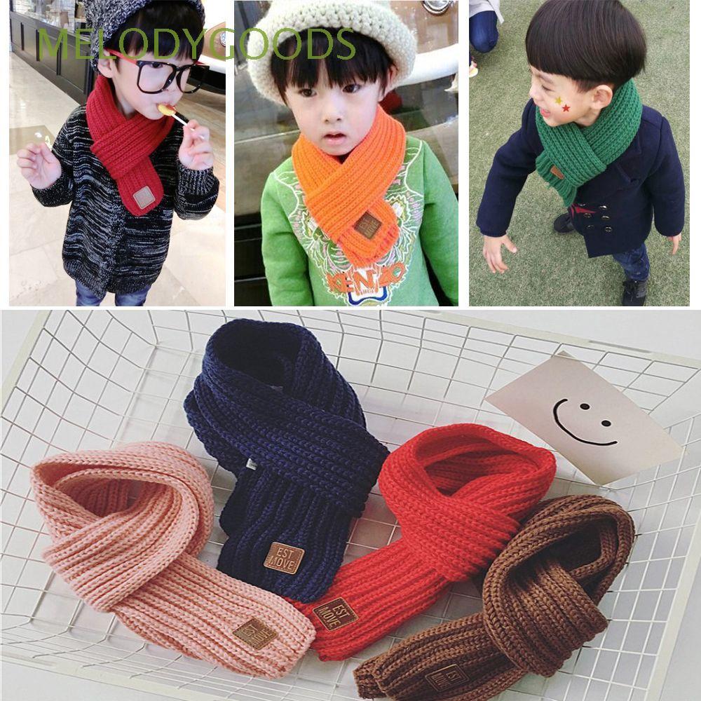 Unisex Fashion Accessories Neckerchief Winter Warm Kids Scarf