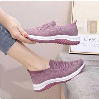 giày chạy bộ nữ, giày lười nữ cao cấp chất liệu vải mềm đế cao su đúc nên rất nhẹ và êm chân (Sz35-40) L02 DOZIMAX