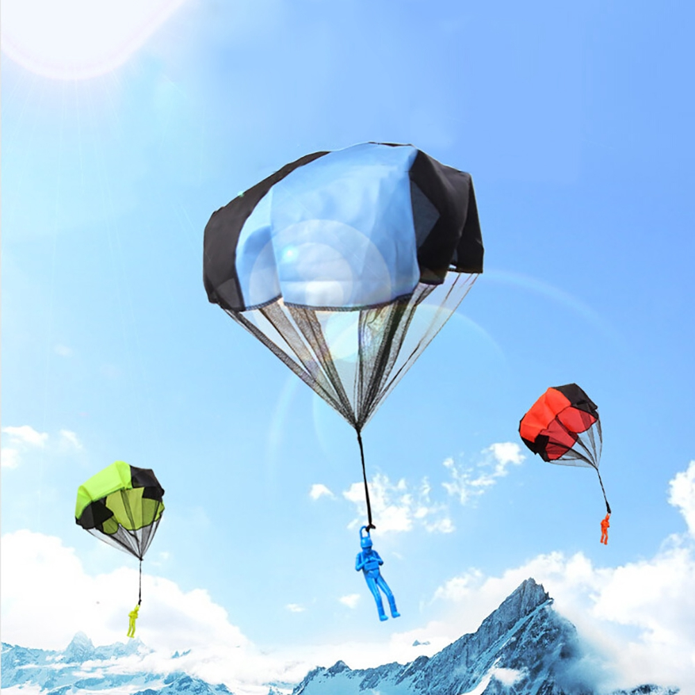 xx Kids Mini Play Hand Throwing Parachute Toys Soldier Children Outdoor Sports