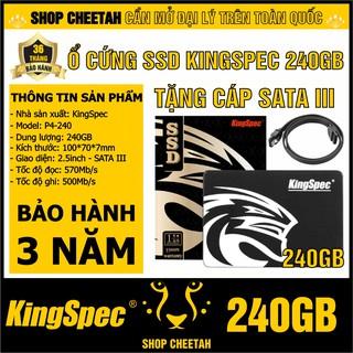 Ổ cứng SSD KingSpec 240GB – CHÍNH HÃNG – Bảo hành 3 năm – SSD 240GB – Tặng cáp dữ liệu Sata 3.0