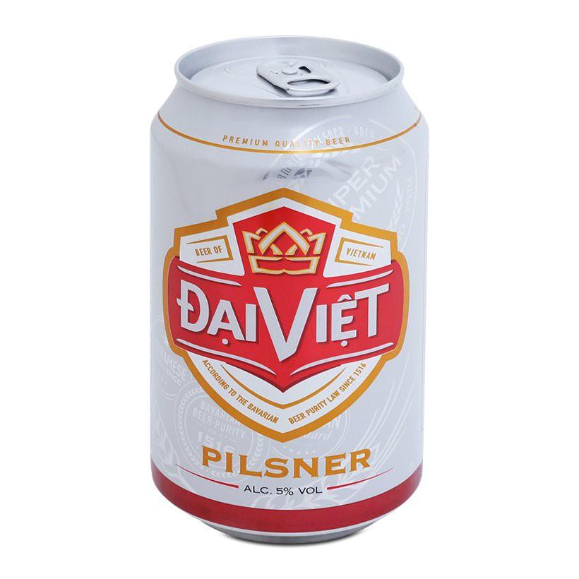 Chỉ bán Hà Nội - Bia Đại Việt Pilsner lon 330ml - thùng 24 lon