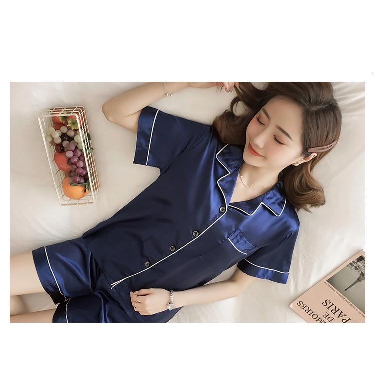 Mặc gì đẹp: Thoải mái với Đồ ngủ nữ cotton thun cộc tay pijama, Đồ Bộ Pijama,Bộ lụa satin dài tay hoạ tiết Cao cấp