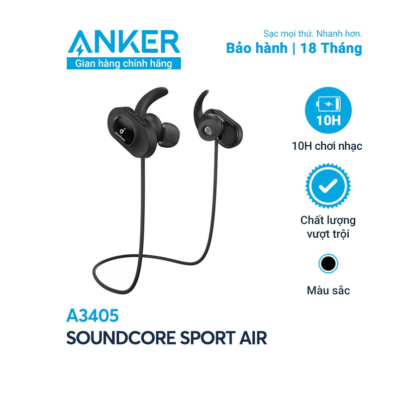 Tai nghe bluetooth SoundCore Sport Air (by ANKER) - A3405