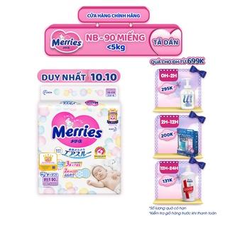 Tã/bỉm dán Merries size NB – 90 miếng (Cho bé dưới 5kg)