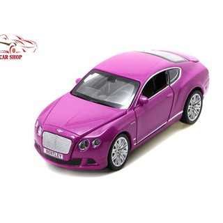 Xe mô hình giá rẻ Bentley Continental tỉ lệ 1:32 màu hồng