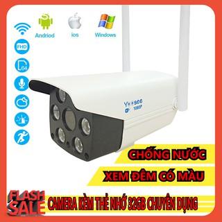 Yêu ThíchCamera IP YooSee Ngoài Trời FHD 1080 Tiếng Việt + Thẻ Nhớ 32Gb Yoosee