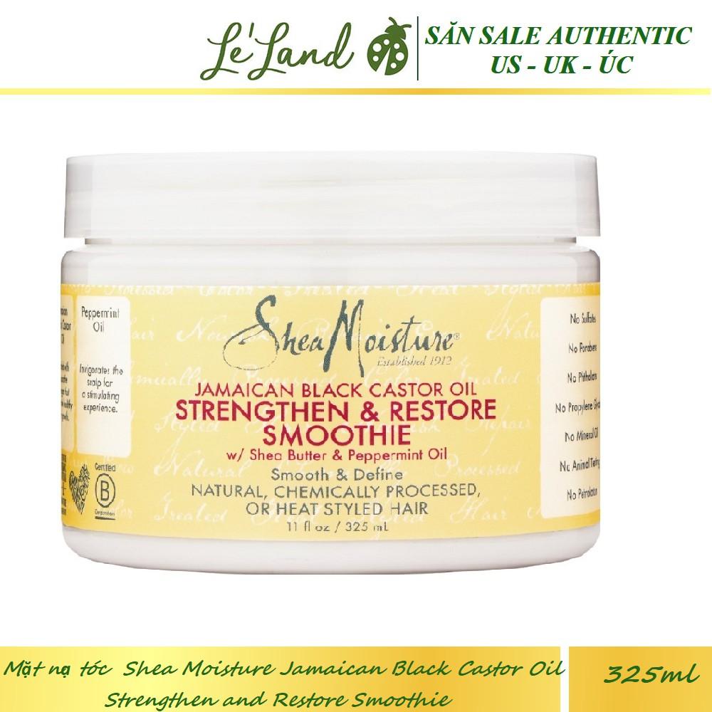 Bill US - Mặt nạ tóc SheaMoisture Shea Moisture Jamaican Black Castor Oil Strengthen and Restore Smoothie 325ml