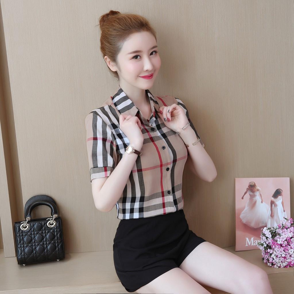 áo sơ mi tay ngắn thời trang dành cho nữ