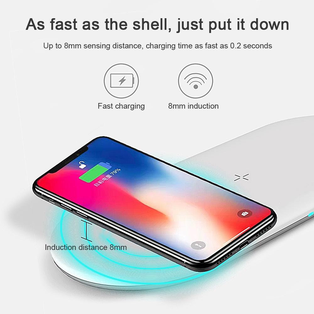Đế Sạc Không Dây 10w 3 Trong 1 Thời Trang Cho Iphone 11 Pro Max Iwatch 5