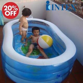 (shopcongnghe24h)Bể bơi hình ovan Intex trong suốt hình cá kt 1m63x1,07mx46cm..