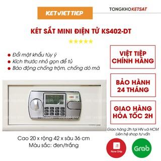Két sắt khách sạn cao cấp KS402-DT Việt Tiệp khóa điện tử cỡ nhỏ mini để vừa tủ quần áo thumbnail