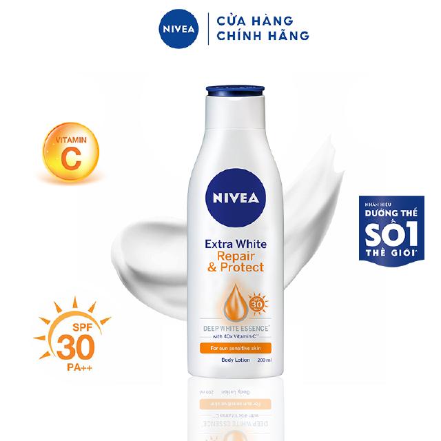 Sữa dưỡng thể dưỡng trắng Nivea giúp phục hồi chống nắng (200ml) – 88310