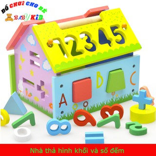 Đồ chơi nhà thả hình khối và số cho bé