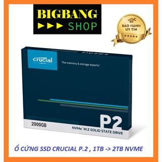 Ổ Cứng SSD Crucial P2, 1TB - 2TB, NVME, PCIE Gen 3 4 thumbnail