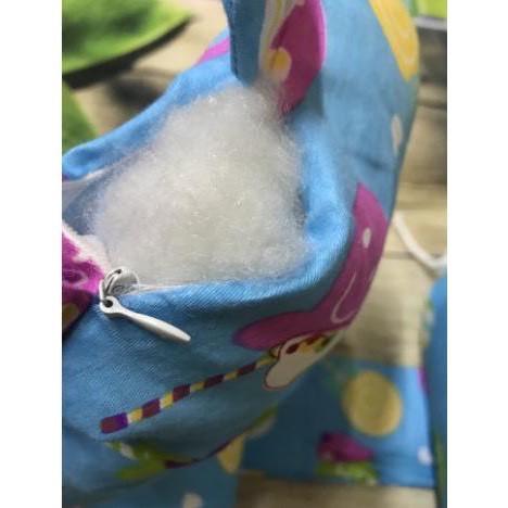 Bộ gối chặn bông cotton cho bé - Gối chặn sơ sinh 2 đầu em bé GC302
