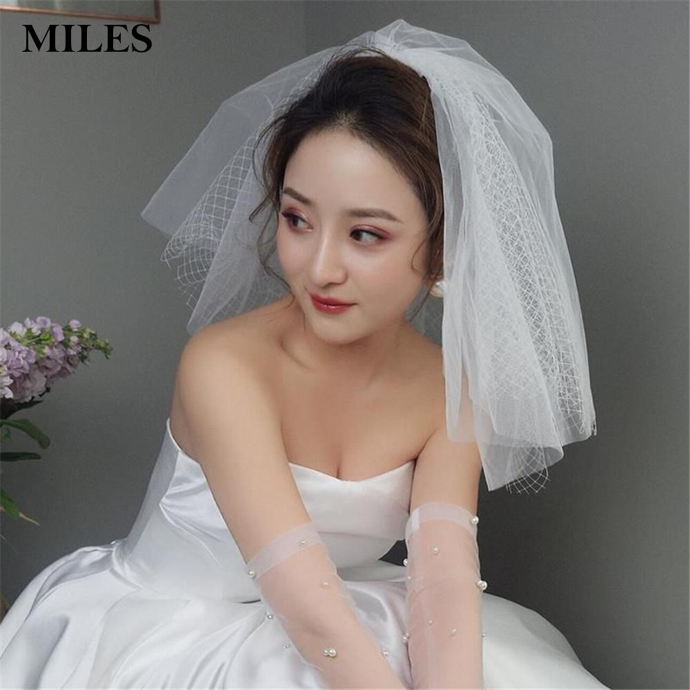Vintage Bridal Face Veil Vintage For Wedding Birdcage Net Veil  White Charm