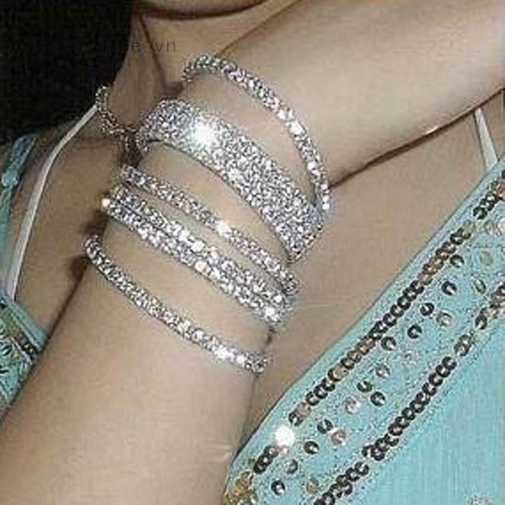 Vòng đeo tay thời trang đính đá nhân tạo độc đáo cá tính cho nữ thumbnail
