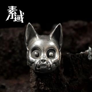 Nhẫn Mạ Bạc 925 Hình Mèo Xinh Xắn Phong Cách Retro